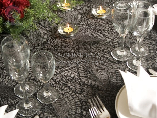 意式风包厢桌布非洲大叶子-豪包-意式风格