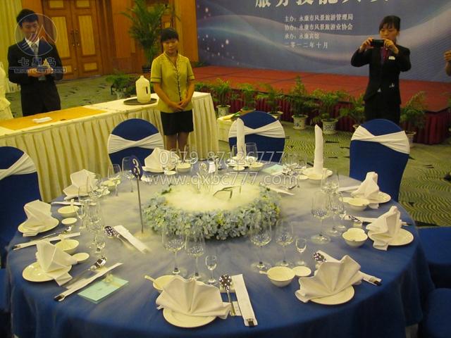 酒店布草定制 主题宴会设计大赛 中餐主题宴会设计大赛 中餐创意摆台图片