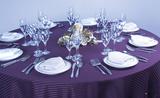 条纹台布紫色台布 -QX409