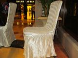 直条牙白高档椅套 - 免烫椅套