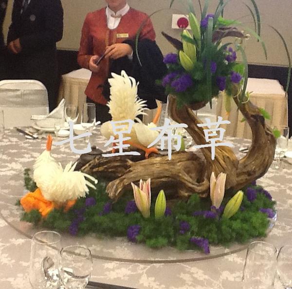 东阳世贸中餐宴会摆台-