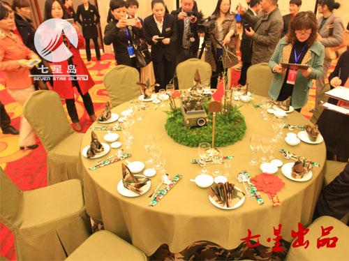 中餐宴会摆台-参军宴|餐饮布草|酒店布草|七星布草图片
