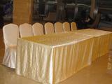奢华绉布象牙白桌套式签到台 -东阳2012餐饮摆台展示 847