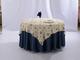 色织小花涤棉方台布