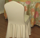 加厚乳黄罗马布休闲款椅套后背