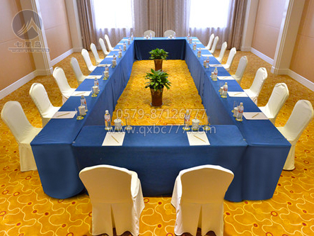 蓝色会议桌布-QXZT16