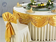金黄色桌幔装饰