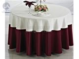 酒红色圆台布白色台盖组合 -QXTB0420  QXTB0433