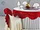 大红桌幔装饰