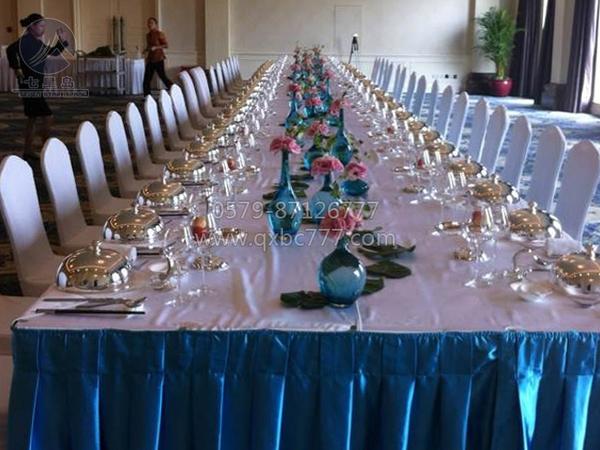 长条桌宴会布置-QX-CTZ002