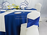 餐厅布草蓝色宴会桌布 -QXTB0203