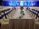 明珠大酒店长条桌婚礼布草