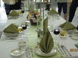 西餐宴会摆台-绿色环保主题