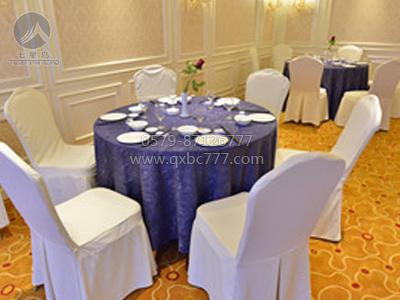 椰树蓝紫色圆台布-QXTB1744