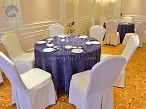 椰树蓝紫色圆台布 -QXTB1744