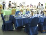 西餐宴会摆台-蓝色经典