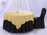 餐厅布草纯黑包厢桌布 -QXTB0463  QXTB0465