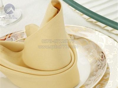 黄色餐桌口布-QX-KB012