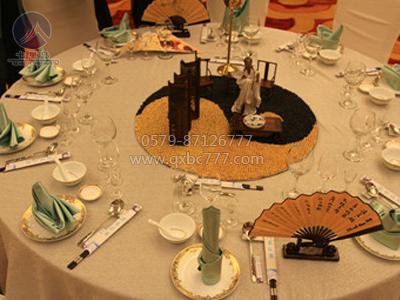 中餐宴会摆台-五谷丰登|餐饮布草|酒店布草|七星布草图片