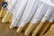 贡丝锦漂白嵌香槟金细条方台布 (1)