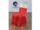大红贡丝锦椅套加包头巾-1