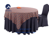 蜂窝桔红方台盖包厢桌布 -QXTB0403 QXTB0435