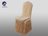 七星订制金黄绉布宴会椅套 -