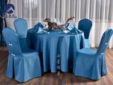 蓝色婚宴桌布
