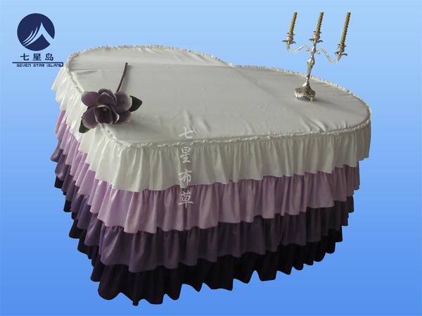芭比爱心桌裙主婚桌-