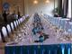 第一世界大酒店长条桌宴会接待桌布