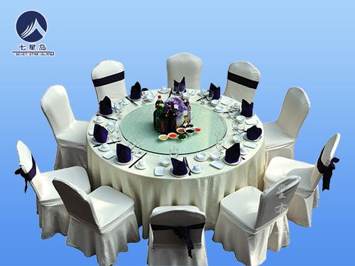 牙白餐厅桌布椅套-