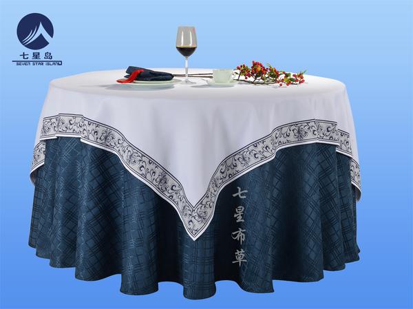 青格亚麻包厢桌布中国风桌布-