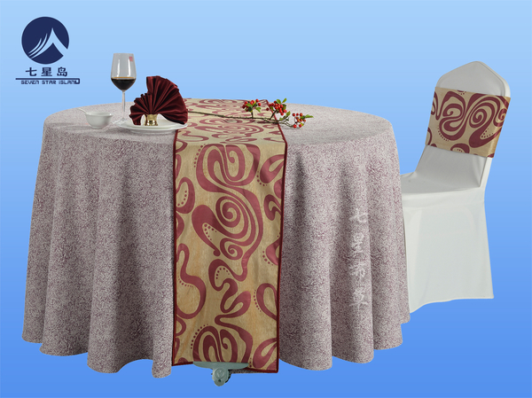 时尚元素金红桌旗-