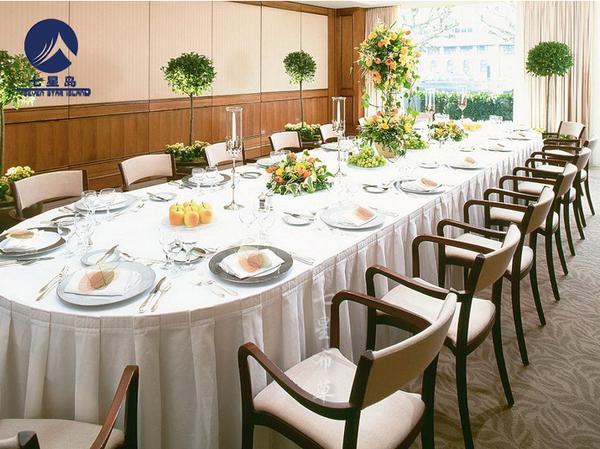 长条桌宴会桌裙-
