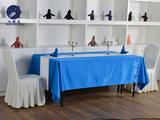 西餐桌布蓝色长方桌布