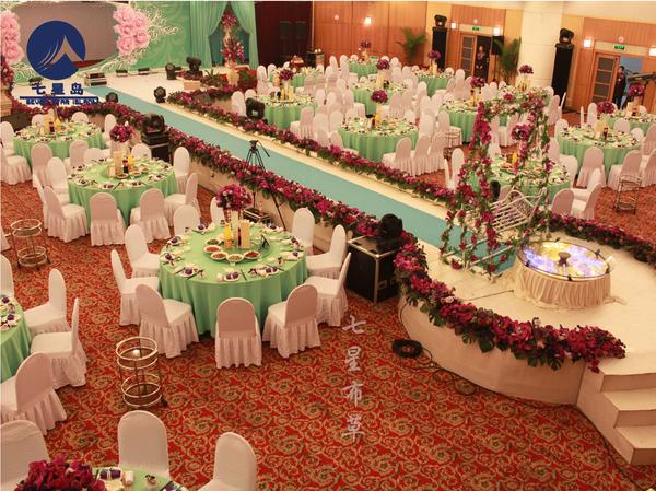 绿色宴会桌布-