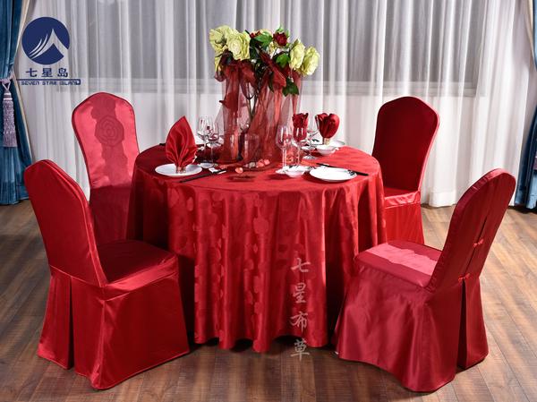 中国红婚宴桌布-