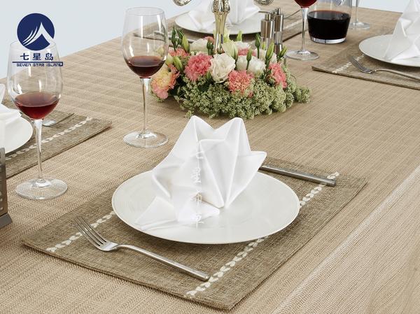 亚麻西餐桌布-