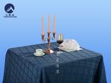 方圆角西餐桌布-亚麻