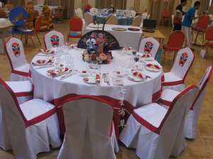 2015年全国高职组中餐宴会主题摆台——京剧宴图片