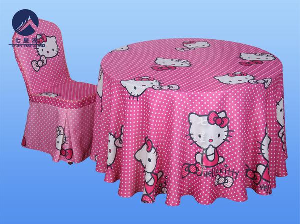 宝宝宴桌布椅套-hello kitty-hello kitty