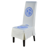 免烫椅套-青花圆图椅套