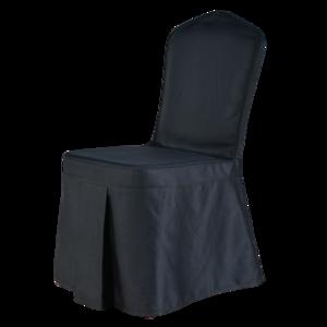 黑色含棉酒店椅套 -七星岛黑色含棉酒店椅套