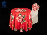 牡丹花餐桌桌布
