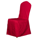七星岛双色绉布椅套-红加金 -七星岛双色绉布椅套-红加金