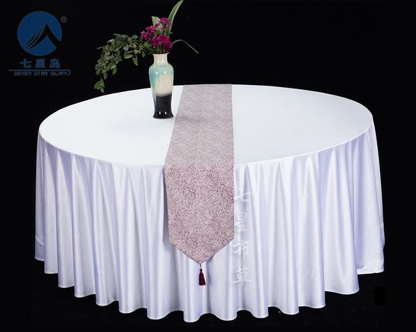 餐厅桌旗布艺-雪呢-