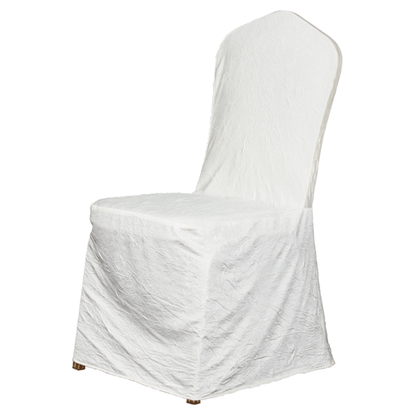 七星岛宴会绉布椅套-白色-七星岛宴会绉布椅套