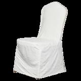 七星岛宴会绉布椅套-白色 -七星岛宴会绉布椅套