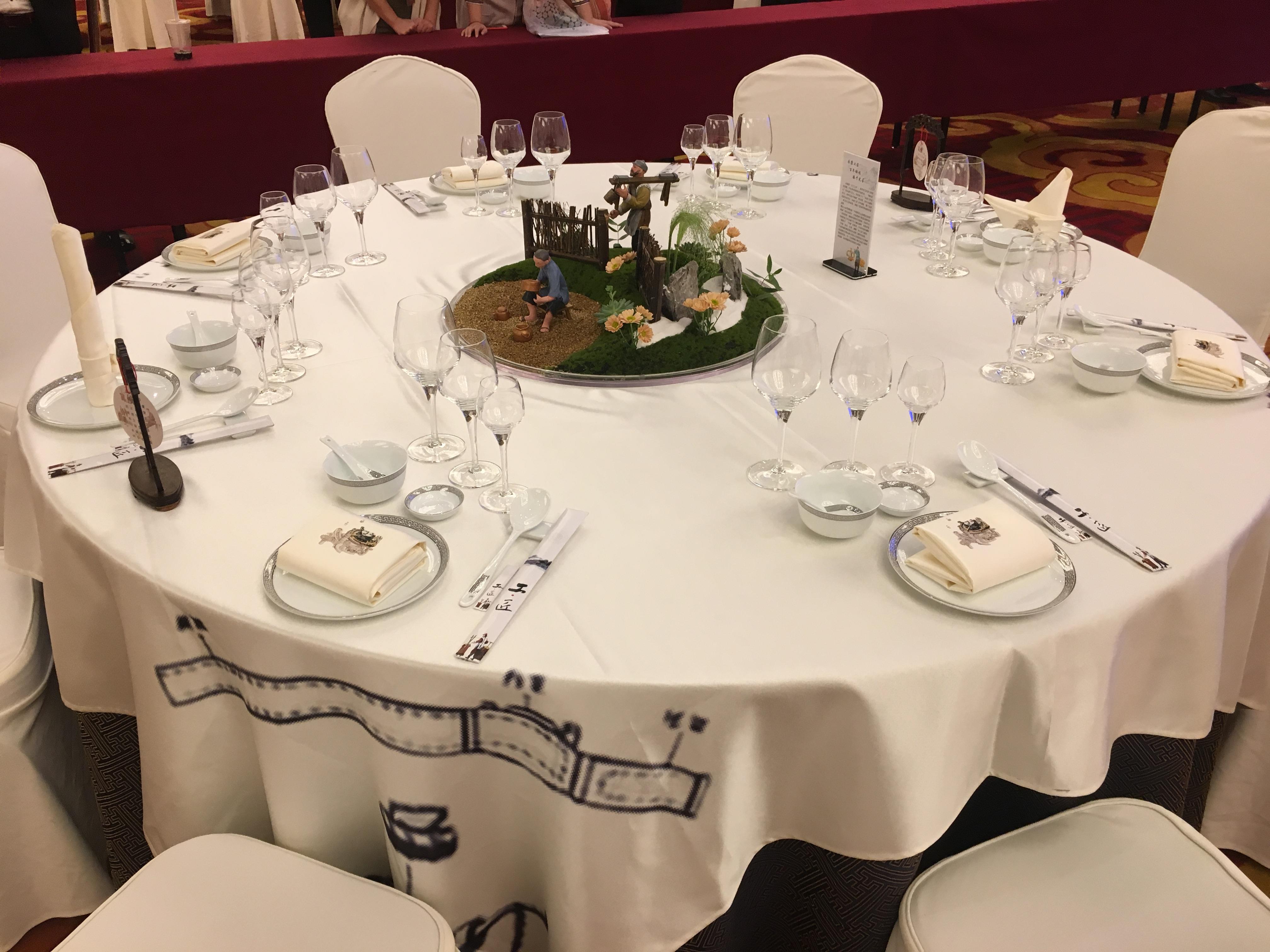 七星岛首页 新闻资讯 宴会主题摆台专栏 金华饭店服务技能大赛中餐图片