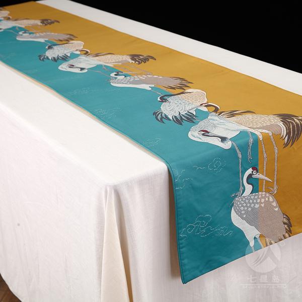 七星岛鹤寿桌旗-